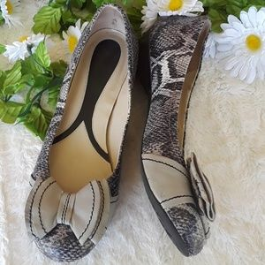 Naturalizer N5 Comfort leather bow top Flats,sz 9M